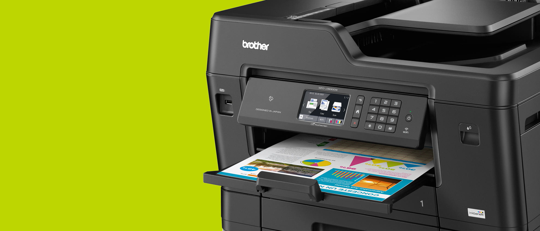 Brother Inkjet Printer on a desk