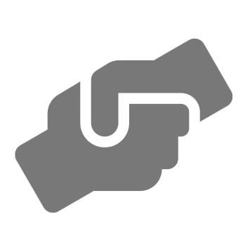 Podanie rúk ikona