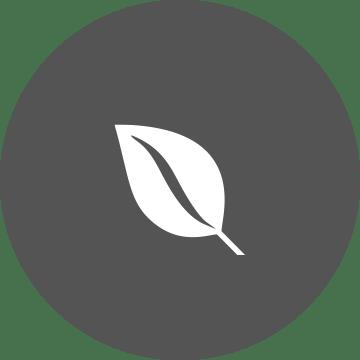 ikona bieleho listu na sivom okrúhlom pozadí