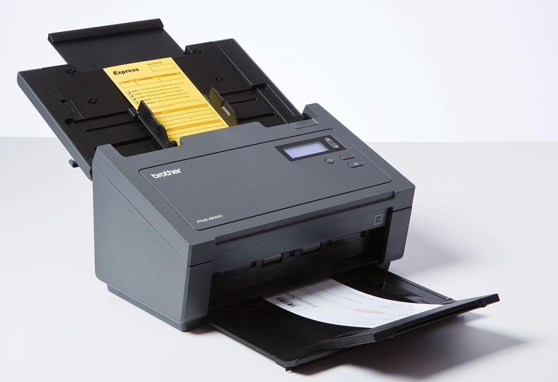 skener Brother PDS-6000 skenujúci dokumenty