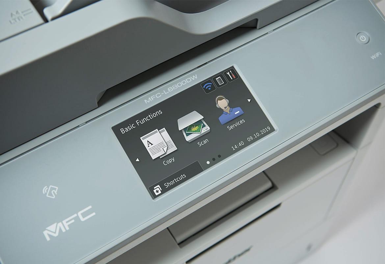 Tri ikony na dotykovej obrazovke modelu MFC-L6800