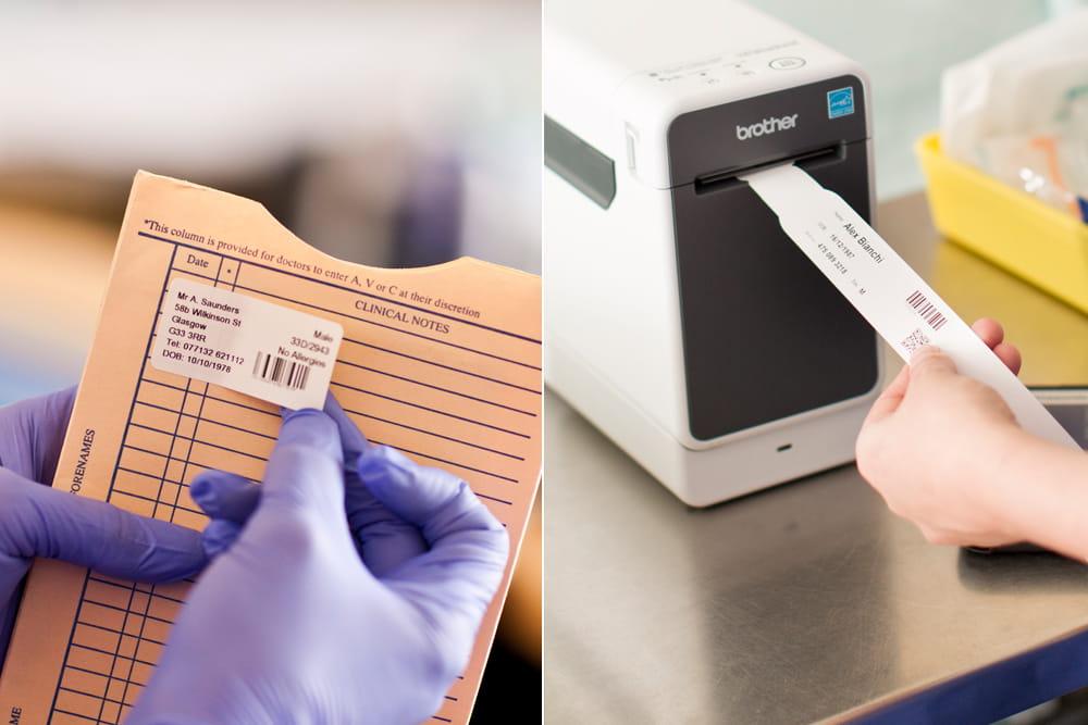 Tlač označenia náramku a karty pacienta