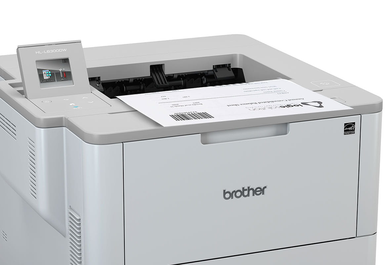 Brother HL-L6300DW tlačí dokument s čiarovým kódom