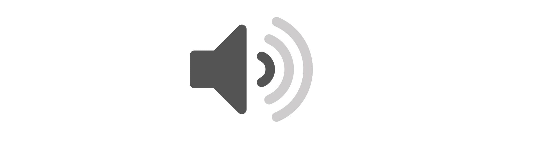 Ikona zvuku - ticho