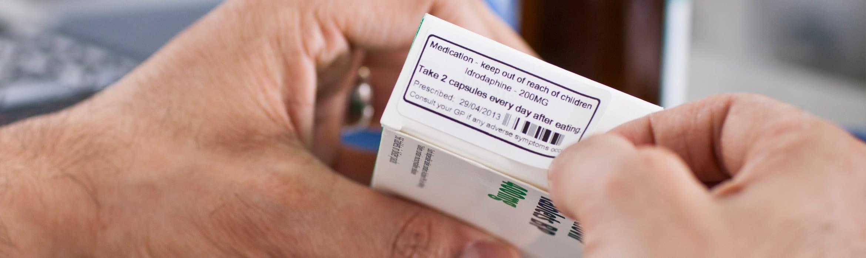 Štítok na krabičke od liekov