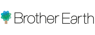 Brother Earth Logo Tree Left Words on single line