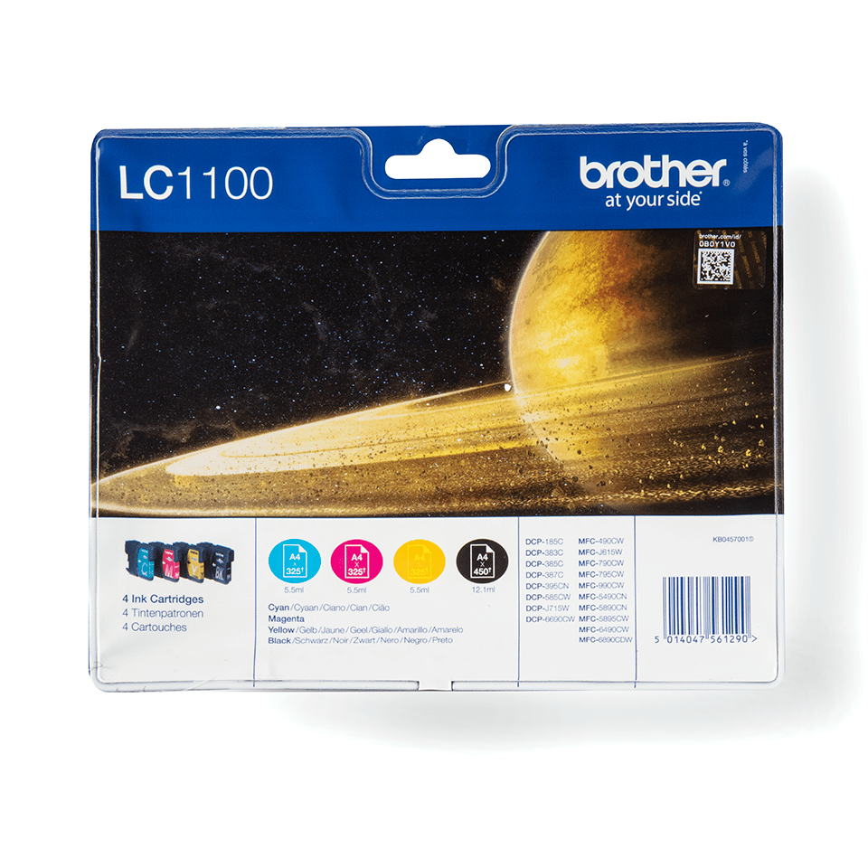 Genuine Brother LC1100VALBP Ink Cartridge Multipack